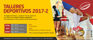 TUMBES: Talleres deportivos 2017-II @ ULADECH Católica filial Tumbes