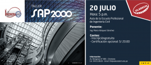 SEDE CENTRAL: Taller SAP2000 @ Auditorio Pardo